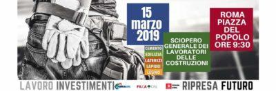 In 600 dal Piemonte alla manifestazione nazionale delle Costruzioni del 15 marzo in Piazza del Popolo a Roma