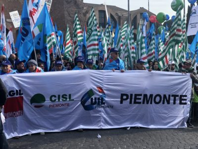 Manifestazione nazionale Cgil Cisl Uil #FuturoalLavoro del 9 febbraio a Roma: la Cisl Piemonte c'è!