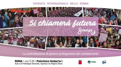 "8 Marzo: venerdì a Roma l'iniziativa di Cgil Cisl Uil nazionali ""Si chiamerà Futura"""