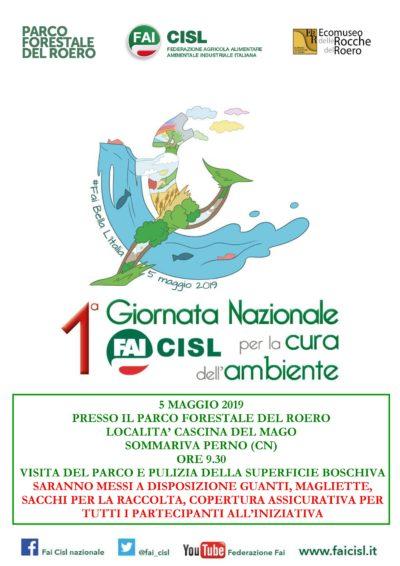Fai bella l'Italia: il 5 maggio la giornata Fai Cisl per la cura dell'ambiente – In Piemonte al Parco forestale del Roero di Sommariva Perno (Cn)