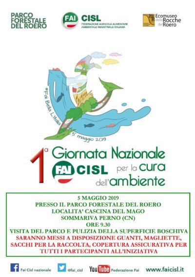 Locandina 1° giornata nazionale FAI per la cura dell'ambiente