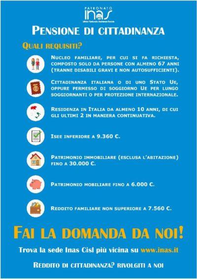 Pensione di cittadinanza locandina 4