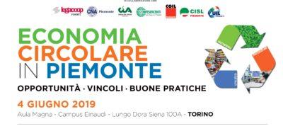 Economia Circolare in Piemonte: opportunità, vincoli, buone pratiche. Martedì 4 giugno al Campus Einaudi di Torino