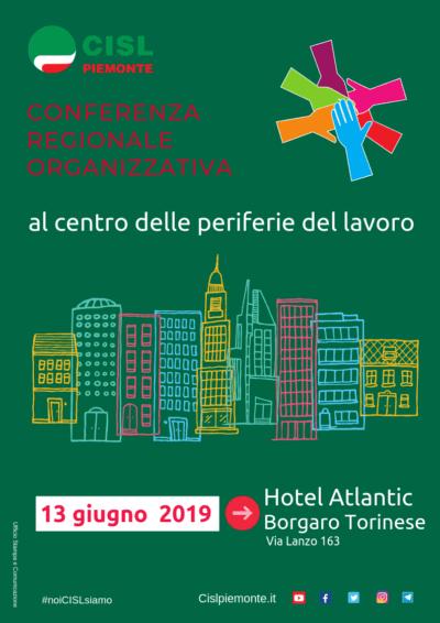 """Conferenza regionale organizzativa: il 13 giugno a Borgaro Torinese """"al centro delle periferie del lavoro"""""""