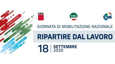 """""""Ripartire dal lavoro"""": Cgil Cisl Uil in piazza il 18 settembre a Novara, Alessandria e Cuneo per la mobilitazione nazionale"""
