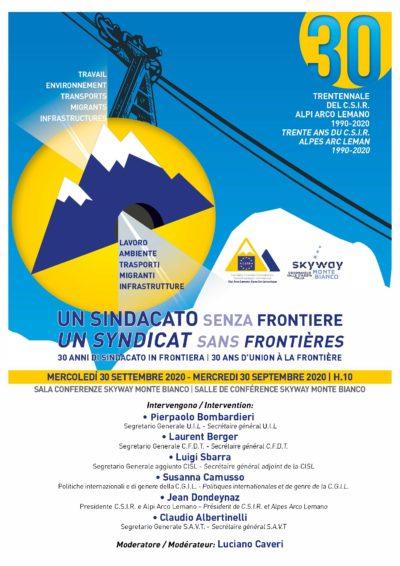 """Un sindacato """"senza frontiere"""": trent'anni di Csir Alpi Arco Lemano"""