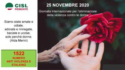 25 Novembre – Giornata Internazionale per l'eliminazione della violenza sulle Donne