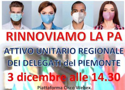 """""""Rinnoviamo la PA"""": il 3 dicembre attivo regionale dei delegati del Pubblico impiego"""
