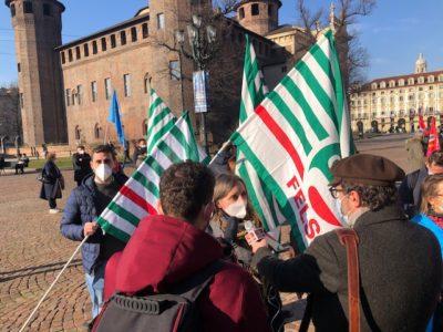 Navigator in piazza a Torino per chiedere garanzie sul futuro