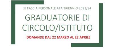 Informazioni graduatorie Ata Terza fascia 2021