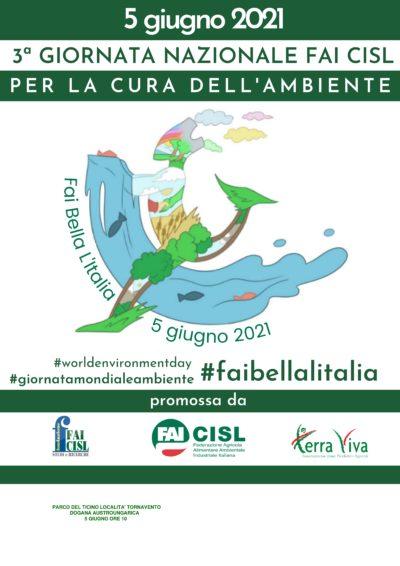 """""""Fai Bella L'Italia"""", il 5 giugno la terza giornata della Fai Cisl per la cura dell'ambiente nel Parco del Ticino"""