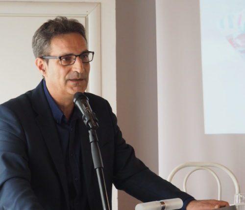 L'intervento del segretario generale Cisl Torino-Canavese, Domenico Lo Bianco, in primo piano