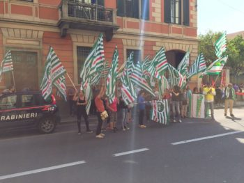 Multiservizi e turismo, presidio a Biella nel giorno dello sciopero