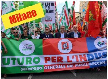 I metalmeccanici di Alessandria ed Asti in piazza a Milano per il futuro dell'industria