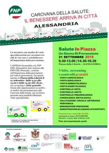 """Ritorna la """"Carovana della Salute"""": prenota la tua visita gratuita il 21 settembre ad Alessandria!"""
