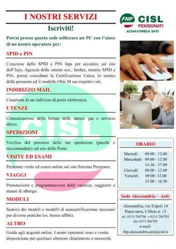 I nuovi servizi dell'FNP CISL Alessandria Asti