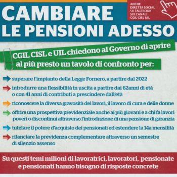 Un tavolo di confronto con il governo per cambiare le pensioni