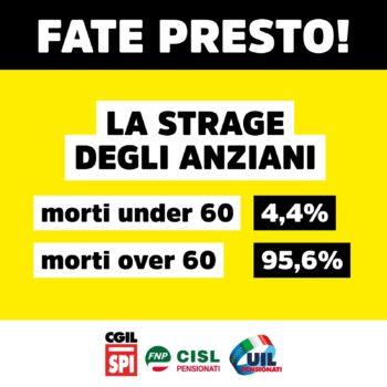 "Vaccini, Fnp-Spi-Uilp Piemonte: ""Fate presto per salvare i nostri anziani!"""