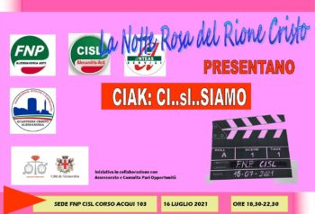 La Fnp Alessandria-Asti partecipa alla Notte Rosa del quartiere Cristo di Alessandria